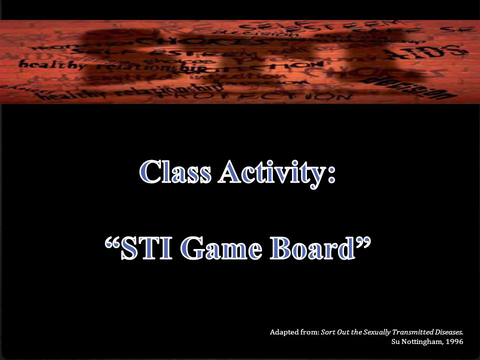 Class Activity: STI Game Board