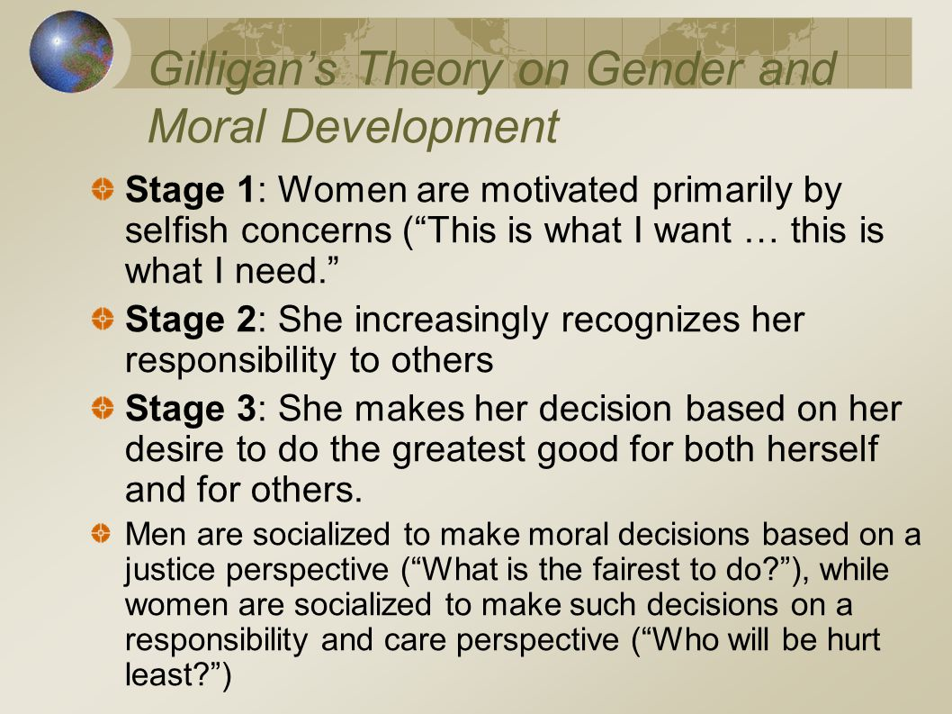 Gilligan's Theory on Gender and Moral Development