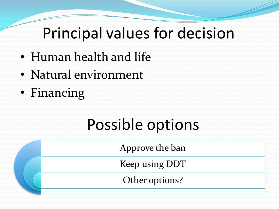 Principal values for decision