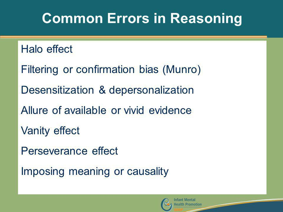 Common Errors in Reasoning