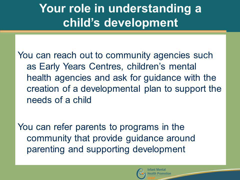 Your role in understanding a child's development
