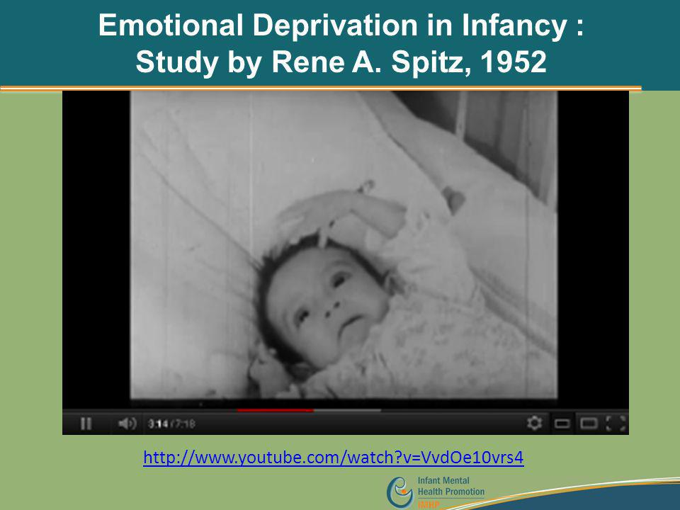 Emotional Deprivation in Infancy : Study by Rene A. Spitz, 1952