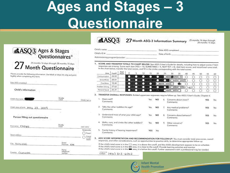 Ages and Stages – 3 Questionnaire