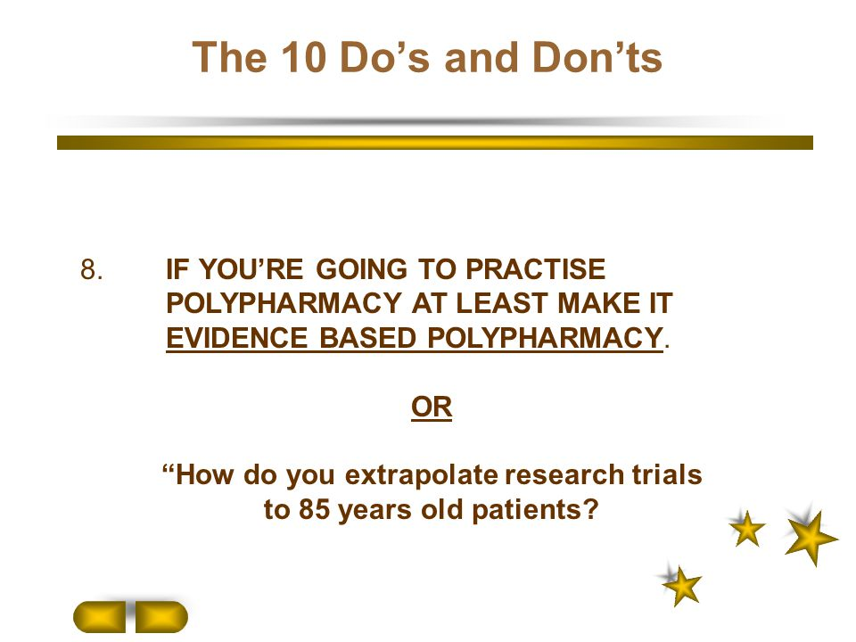 How do you extrapolate research trials