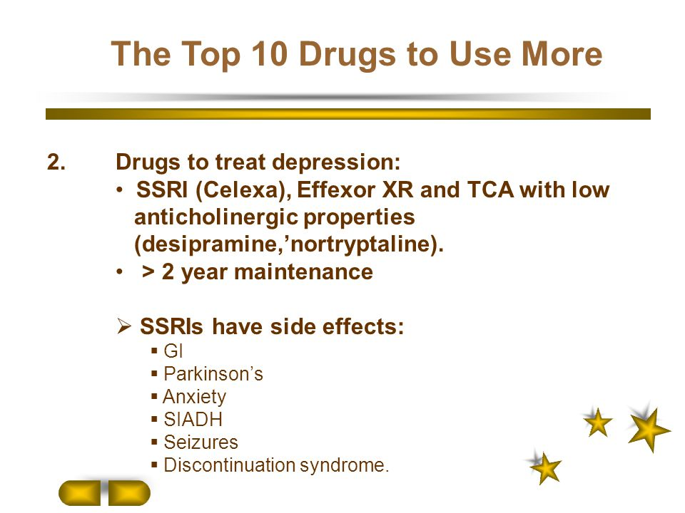 The Top 10 Drugs to Use More