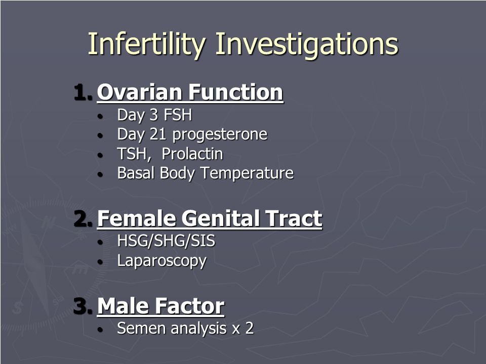 Infertility Investigations