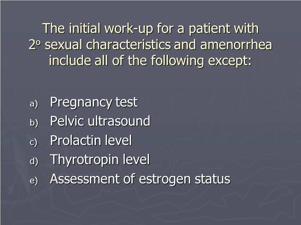 Assessment of estrogen status