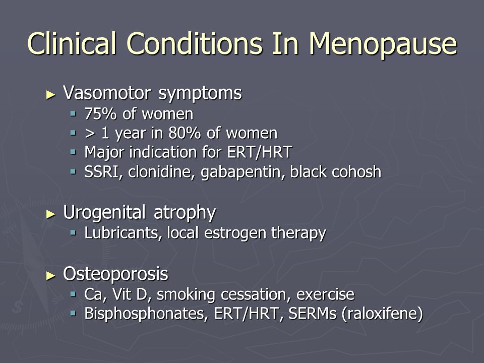 Clinical Conditions In Menopause