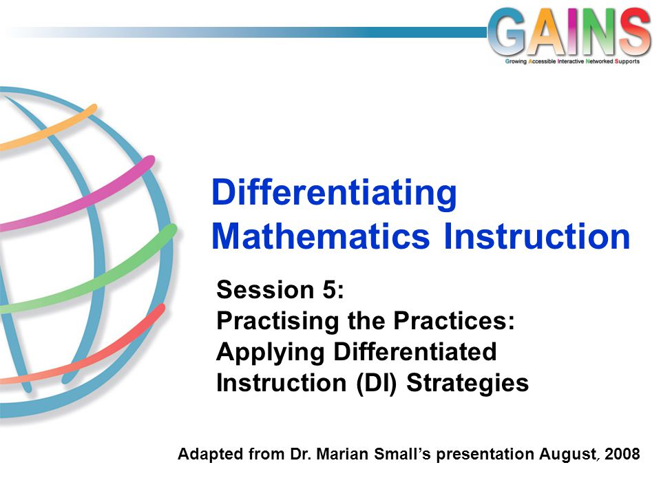 Differentiating Mathematics Instruction Ppt Download