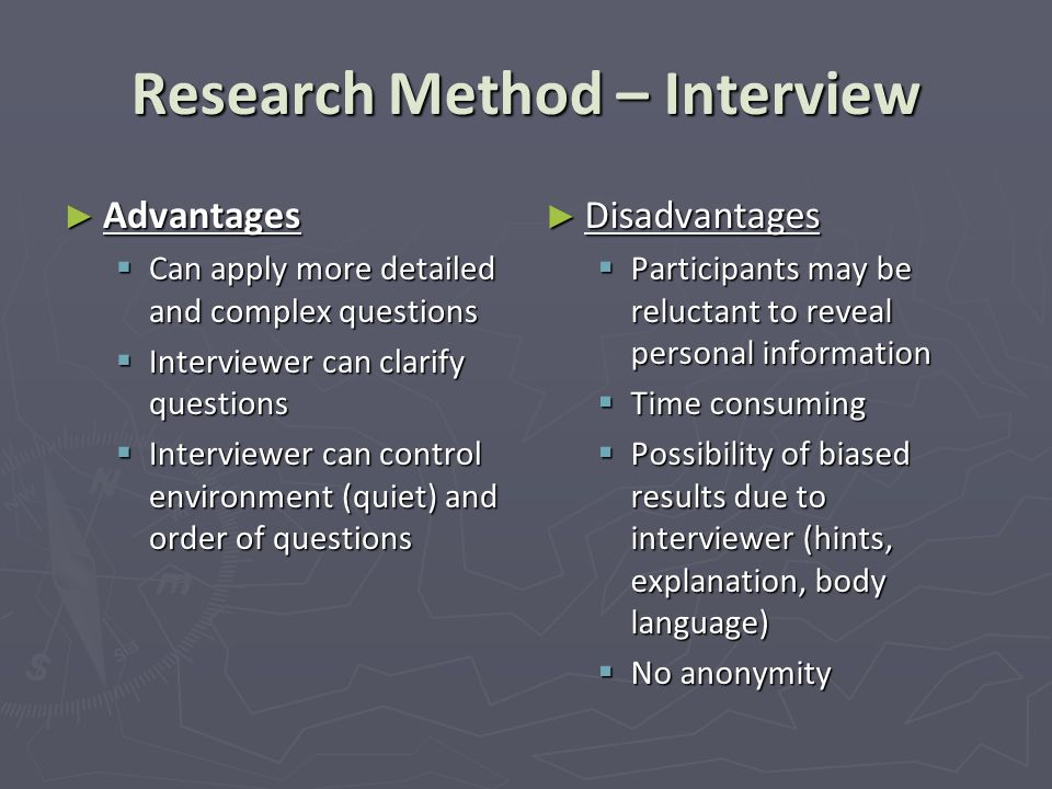 Research Method – Interview