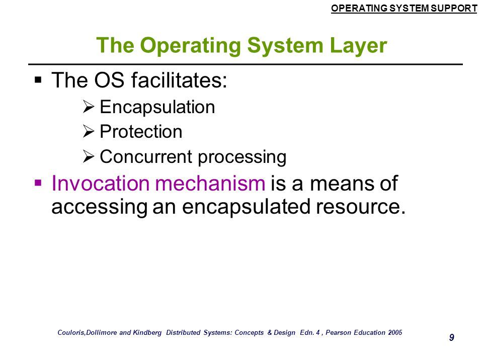 The Operating System Layer