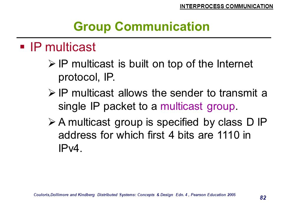 Group Communication IP multicast