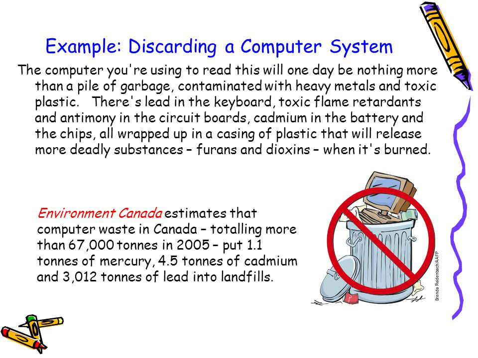 Example: Discarding a Computer System