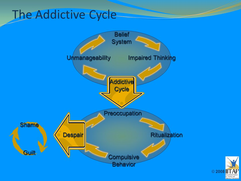 The Addictive Cycle Belief System Unmanageability Impaired Thinking