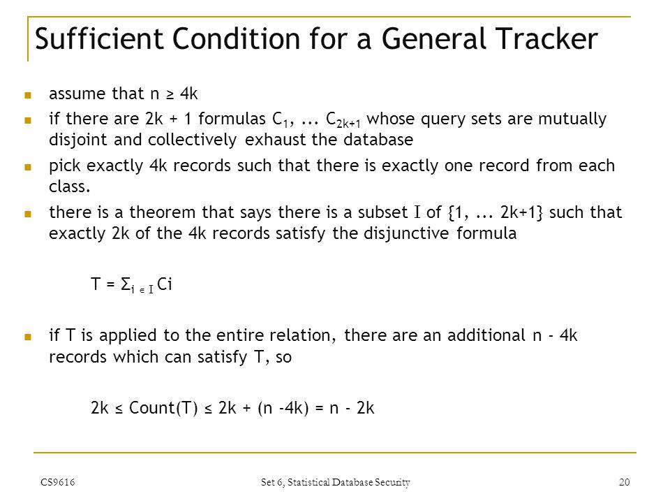 Set 6, Statistical Database Security - ppt video online download