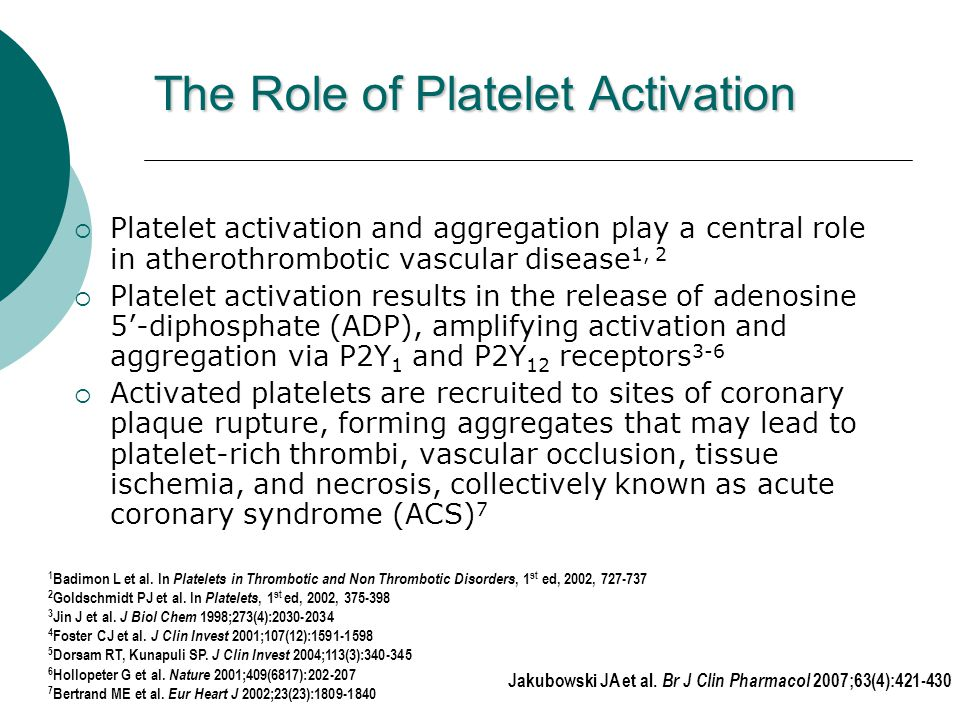 The Role of Platelet Activation