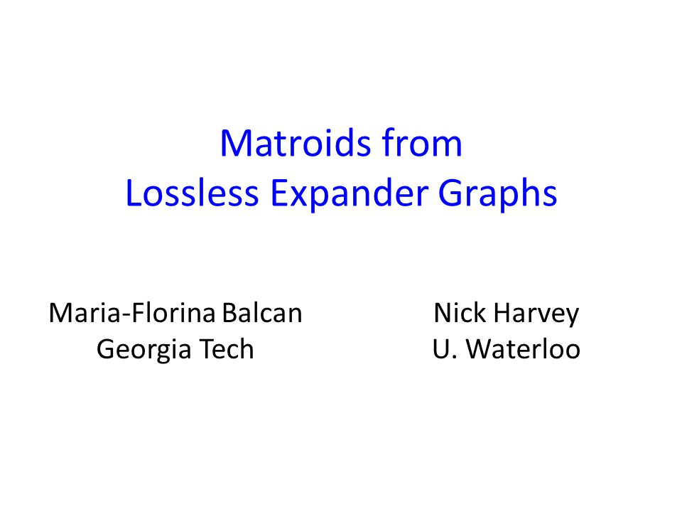 Matroids from Lossless Expander Graphs