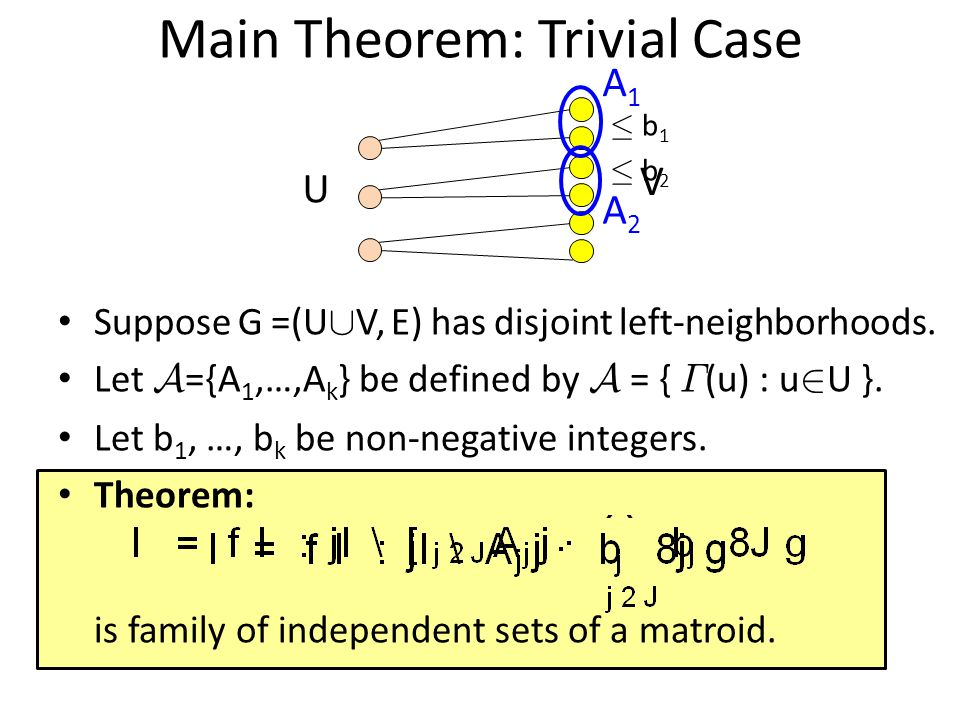 Main Theorem: Trivial Case