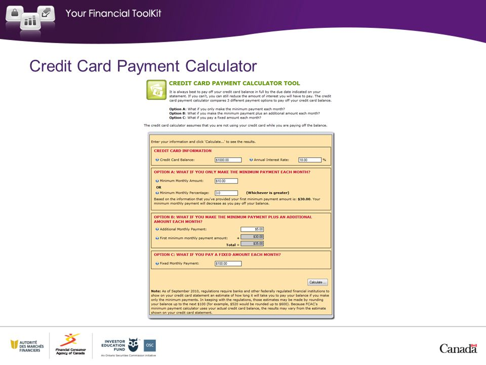 30 Credit Card Payment Calculator