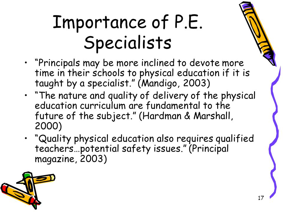 importance of pe