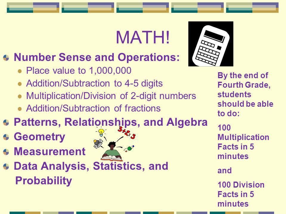 MATH! Number Sense and Operations: