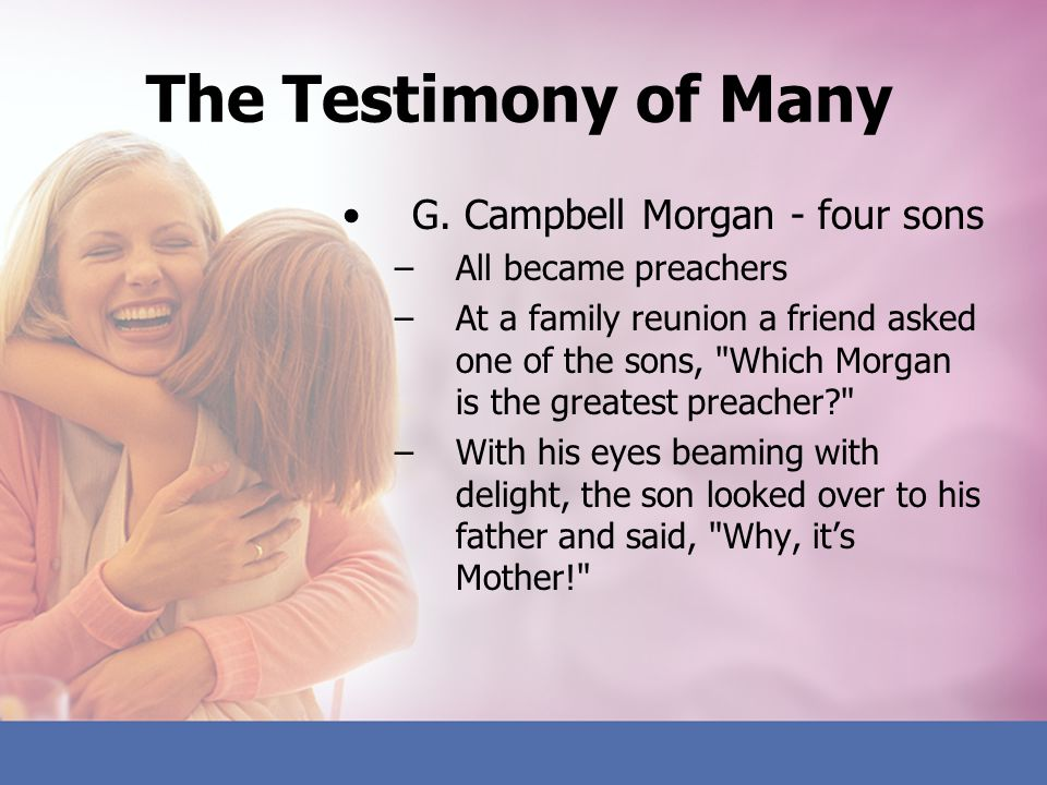 The Testimony of Many G. Campbell Morgan - four sons
