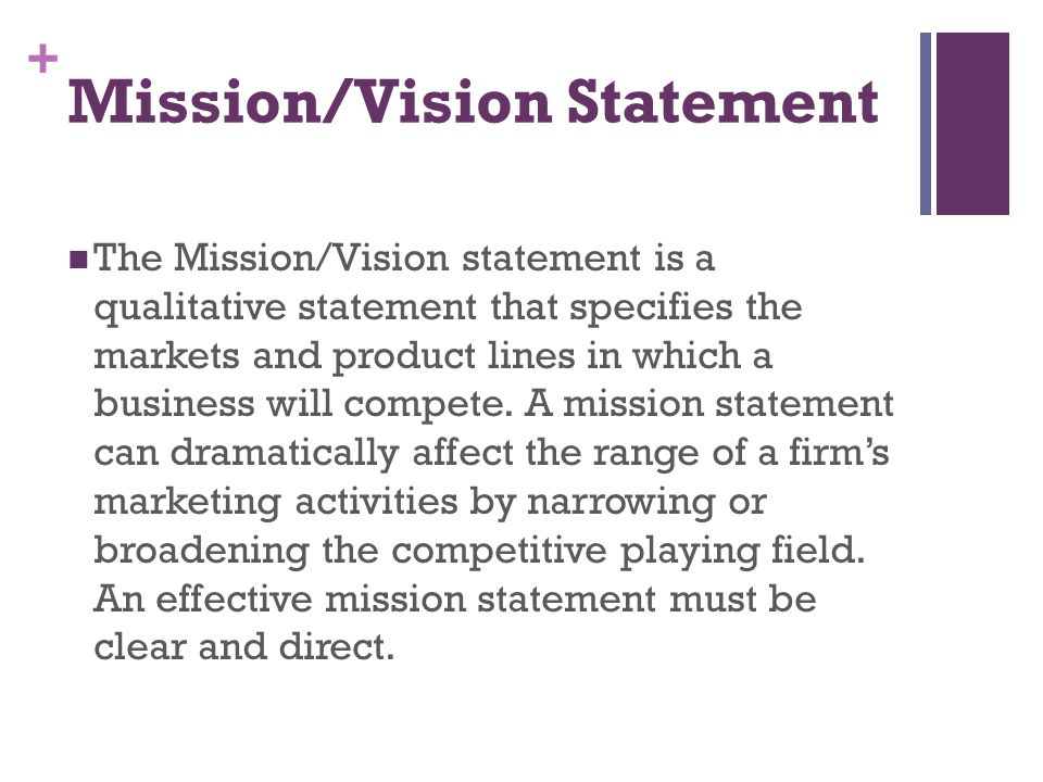 Mission/Vision Statement