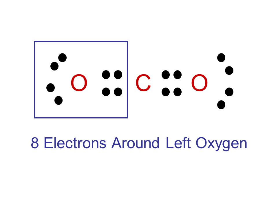 O C O 8 Electrons Around Left Oxygen