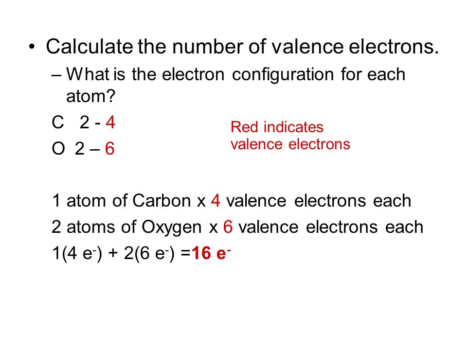 Calculate the number of valence electrons.