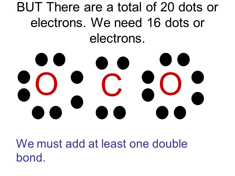 BUT There are a total of 20 dots or electrons