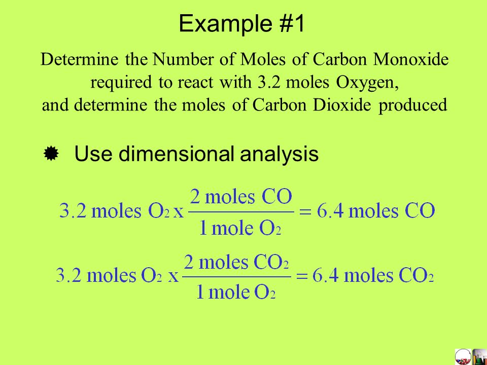 Example #1 Use dimensional analysis