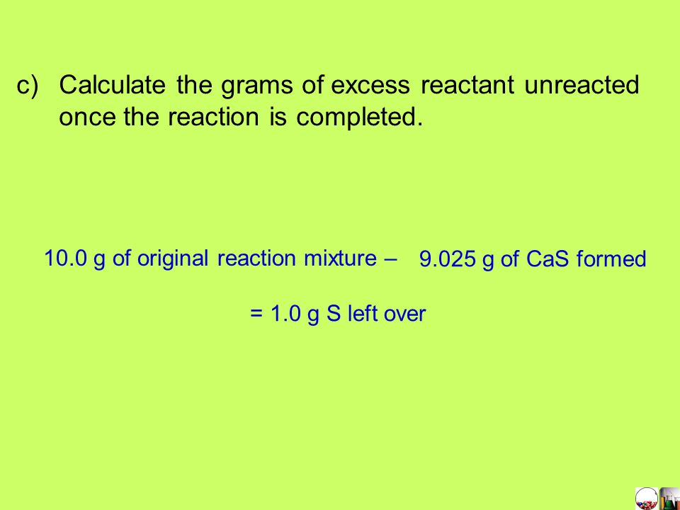 10.0 g of original reaction mixture –