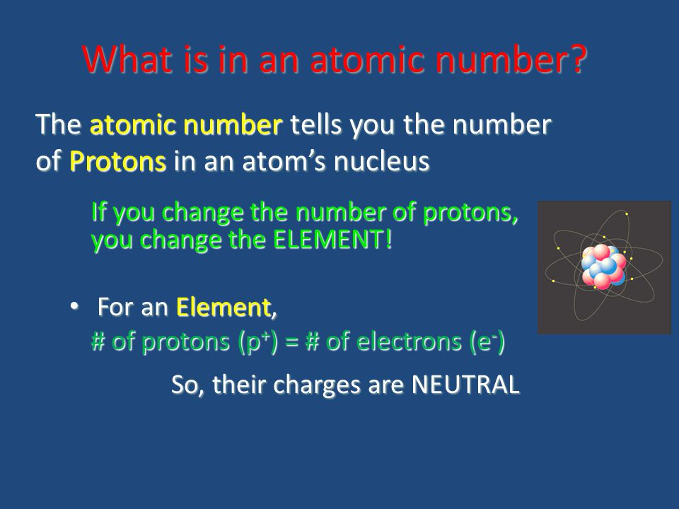 What is in an atomic number