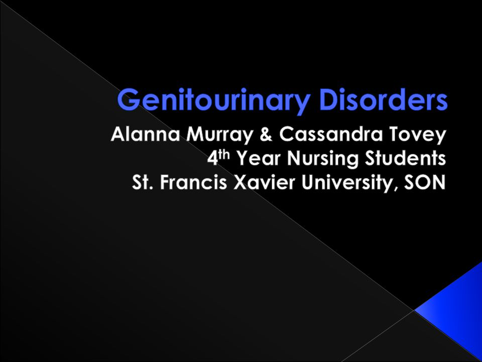 Genitourinary Disorders