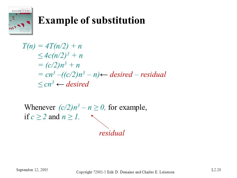 Example of substitution