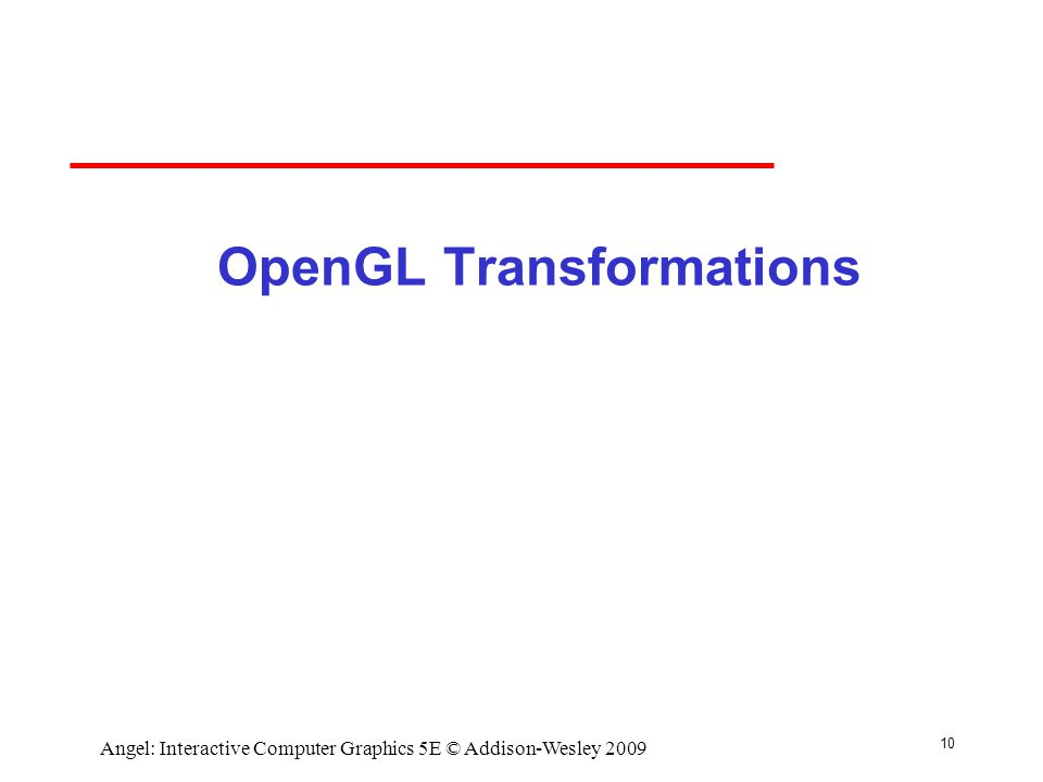 OpenGL Transformations