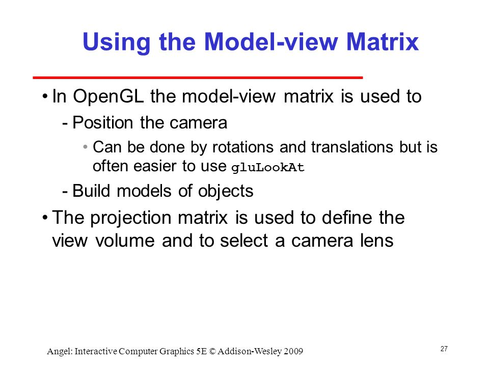 Using the Model-view Matrix