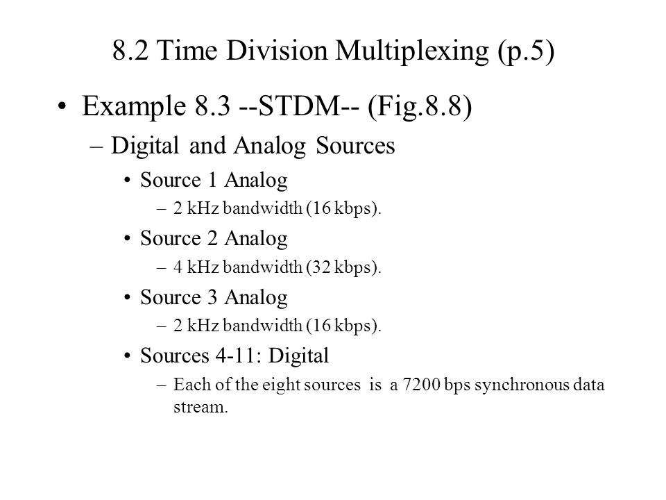 8.2 Time Division Multiplexing (p.5)