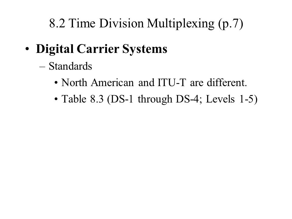 8.2 Time Division Multiplexing (p.7)