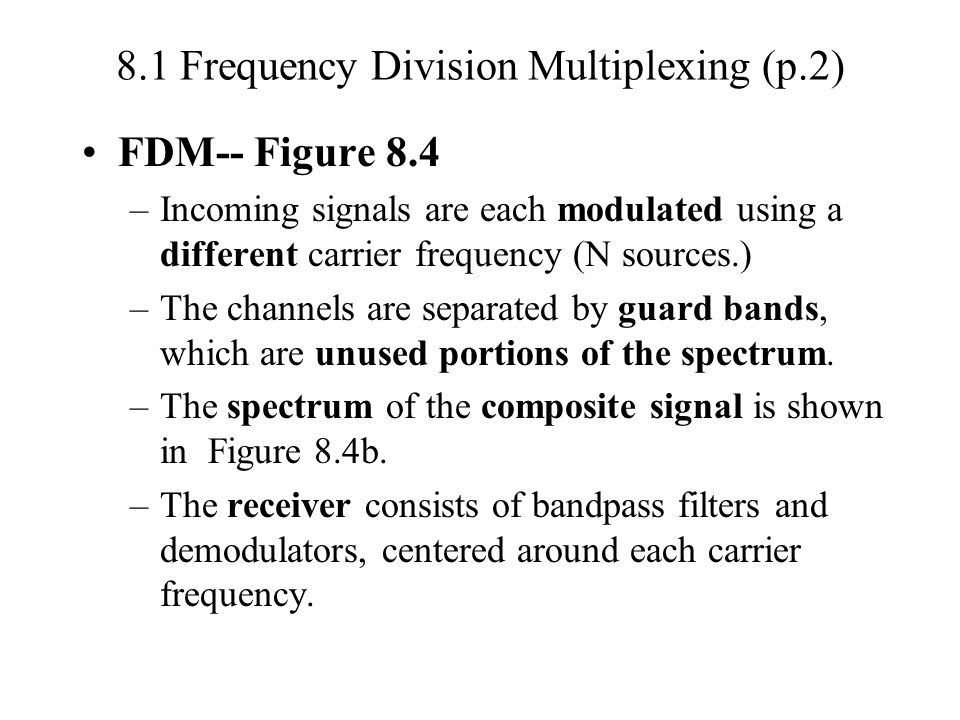 8.1 Frequency Division Multiplexing (p.2)