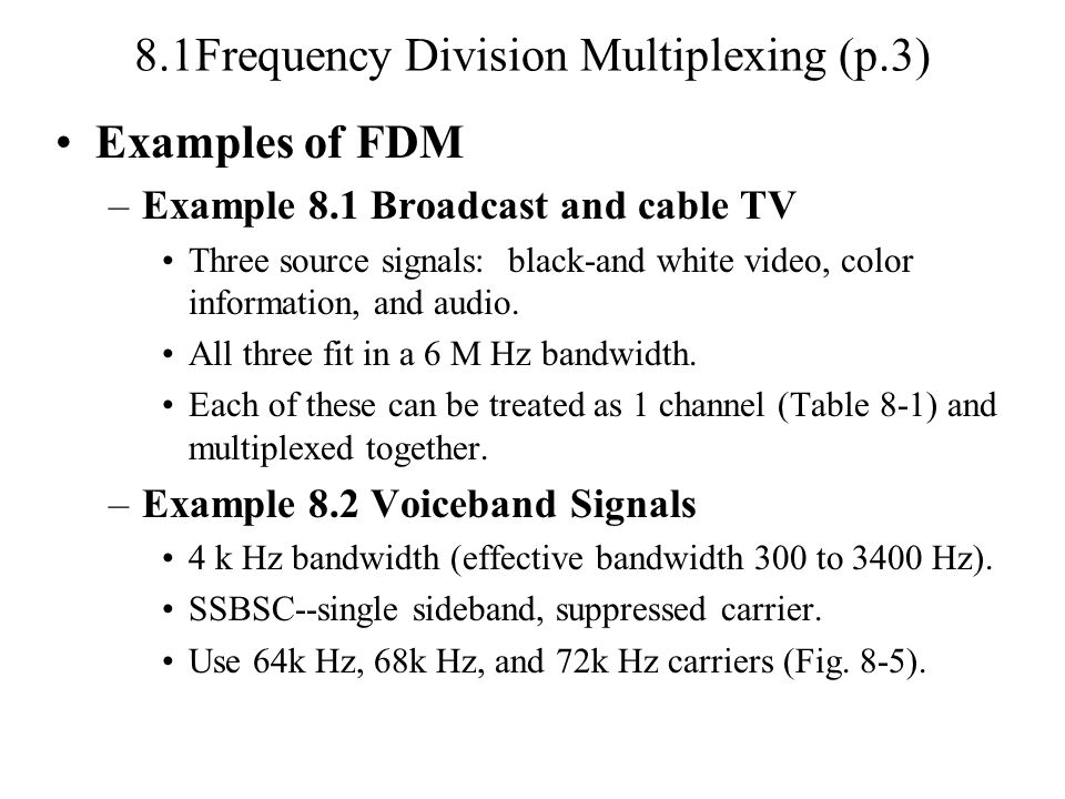 8.1Frequency Division Multiplexing (p.3)