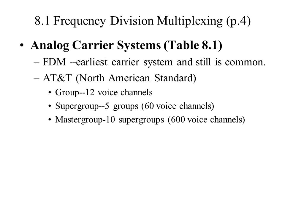 8.1 Frequency Division Multiplexing (p.4)
