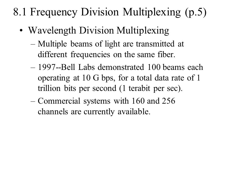 8.1 Frequency Division Multiplexing (p.5)