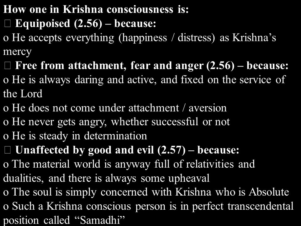 How one in Krishna consciousness is: