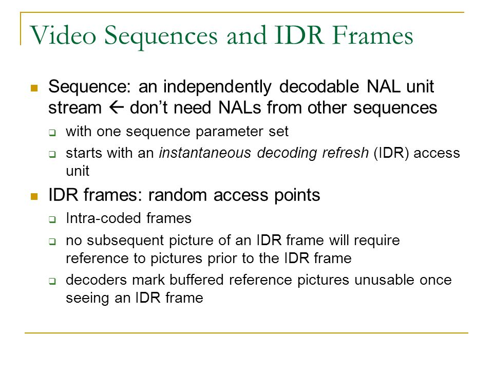 Overview of the H 264/AVC Video Coding Standard - ppt video