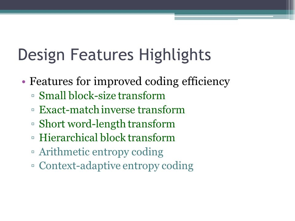 Design Features Highlights