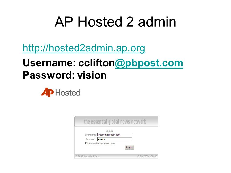 AP Hosted 2 admin http://hosted2admin.ap.org