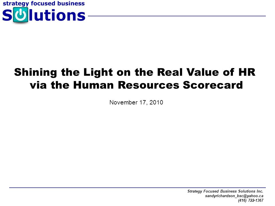 Shining the Light on the Real Value of HR