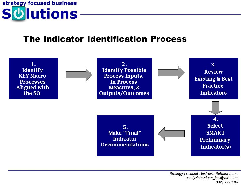 The Indicator Identification Process