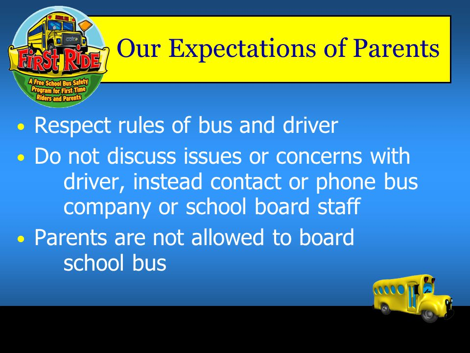 Our Expectations of Parents